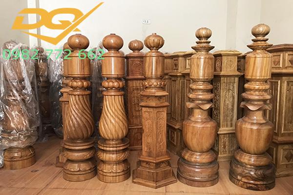 Mẫu trụ cầu thang gỗ đẹp - 3