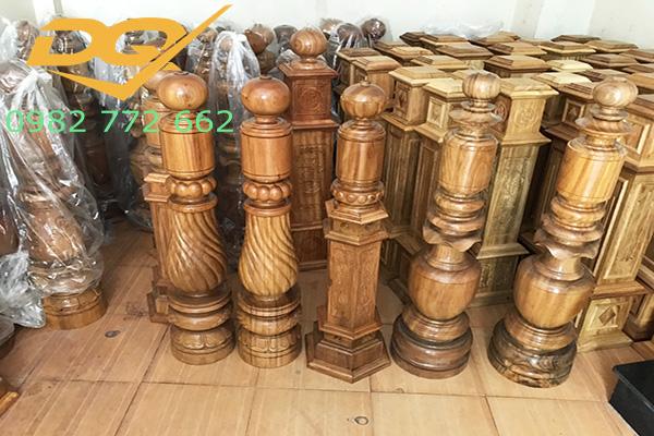 Mẫu trụ cầu thang gỗ đẹp - 4