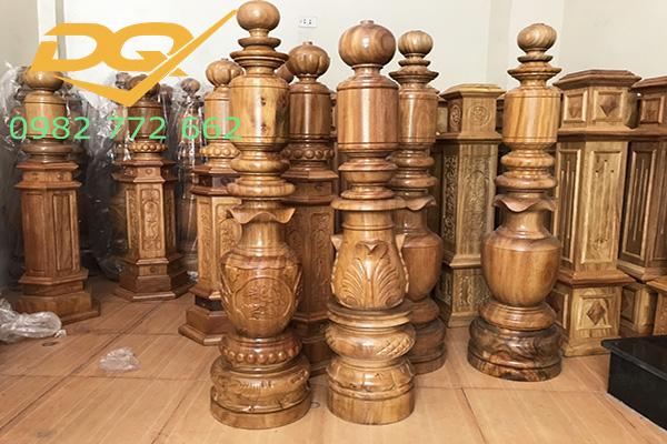 Mẫu trụ cầu thang gỗ đẹp - 5