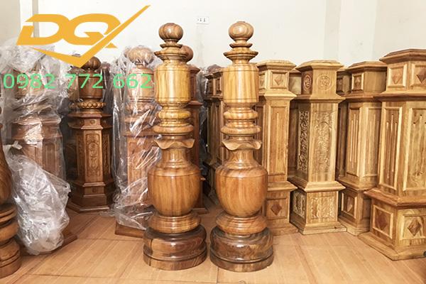Mẫu trụ cầu thang gỗ đẹp - 6