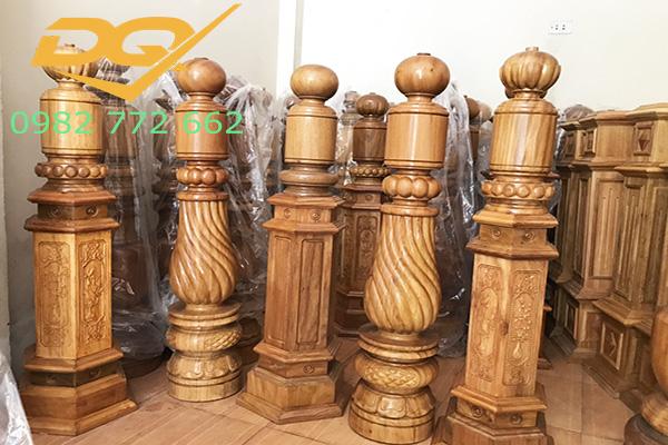 Mẫu trụ cầu thang gỗ đẹp - 7