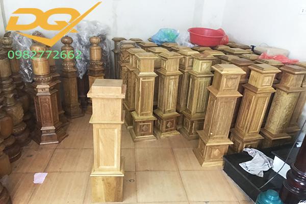 Mẫu trụ gỗ cầu thang đẹp -5