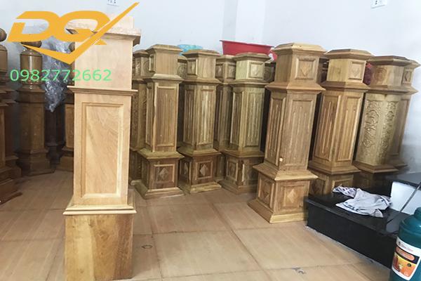 Mẫu trụ gỗ cầu thang đẹp -6