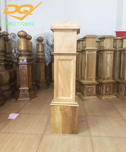 Mẫu trụ gỗ cầu thang đẹp -7