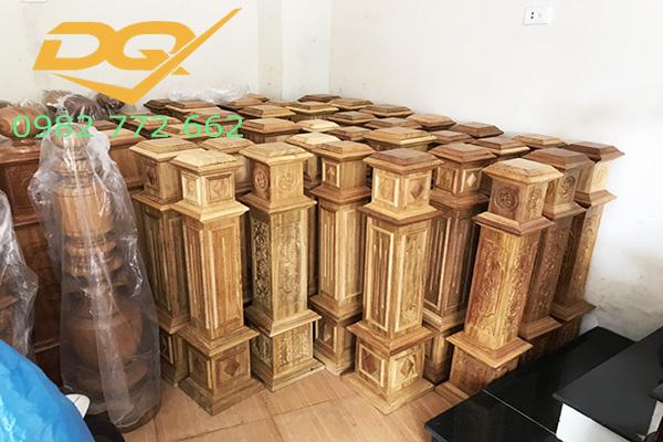 Báo giá trụ cầu thang gỗ mít mới nhất 2020- Mẫu 9