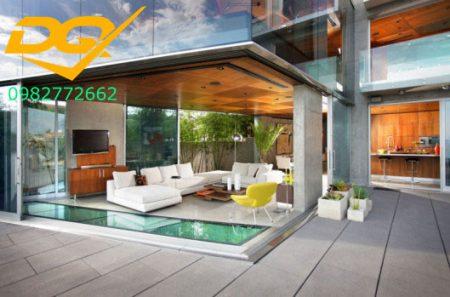 Sàn nhà bằng kính dán an toàn cường lực đẹp#1
