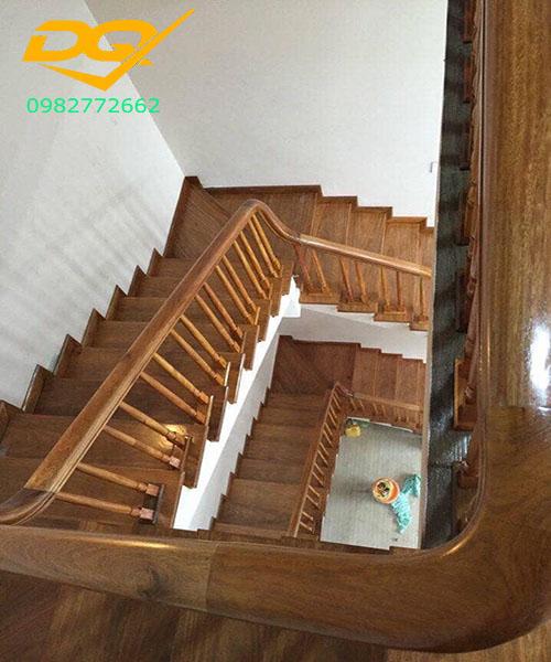 Ốp bậc cầu thang gỗ tự nhiên lim nam phi#2