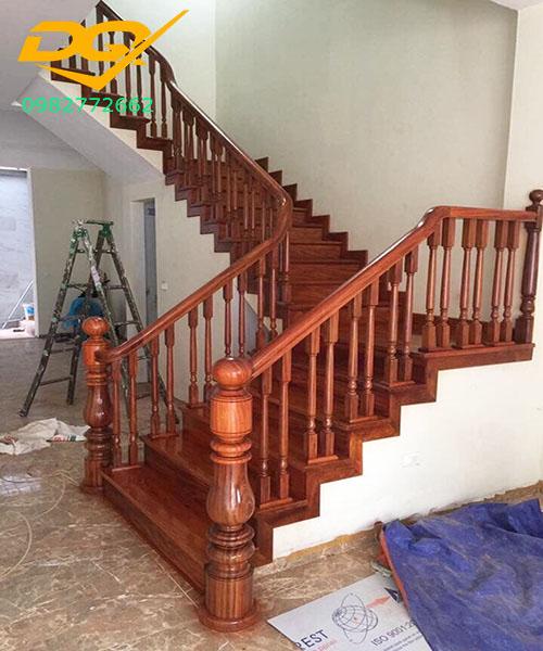 Ốp bậc cầu thang gỗ tự nhiên lim nam phi#3
