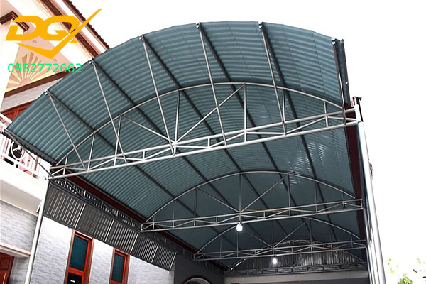 Mái tôn vòm sân thượng