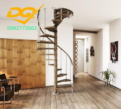 Cầu thang xoắn ốc cho nhà có diện tích nhỏ hẹp